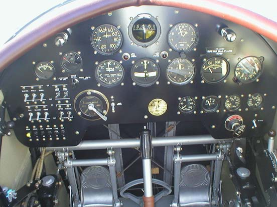 Model 40C Pilot's panel with some modern features added for safe operation