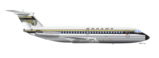 Mohawk Airlines BAC One-Eleven 200