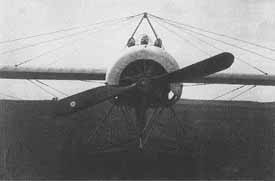 Fokker E.IV with three gun installation.