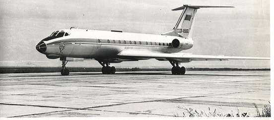 The first tested Tu-134 prior to series CCCP-65600 (00-02) with 2 x D-20P-125 Soloviev engines (14 August 1965 Kharkov)