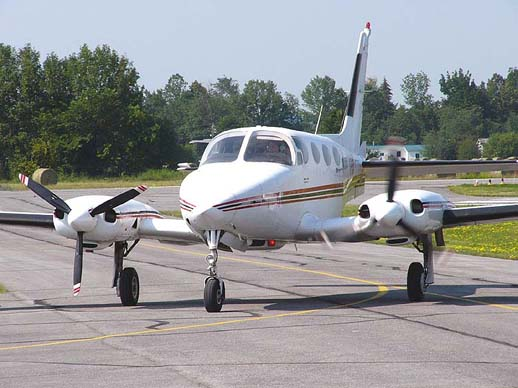 1973 model Cessna 340 front view