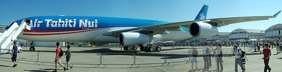 Airbus A340 from Air Tahiti Nui at the 2005 Paris Air Show