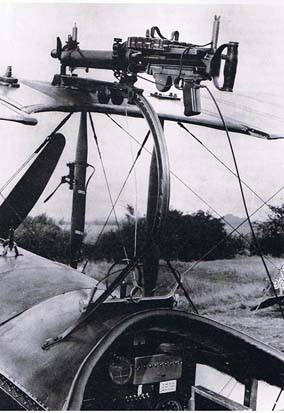 Foster mounted Lewis gun on night fighter Avro 504K