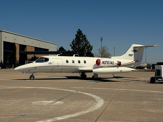 Another view of Learjet 25D