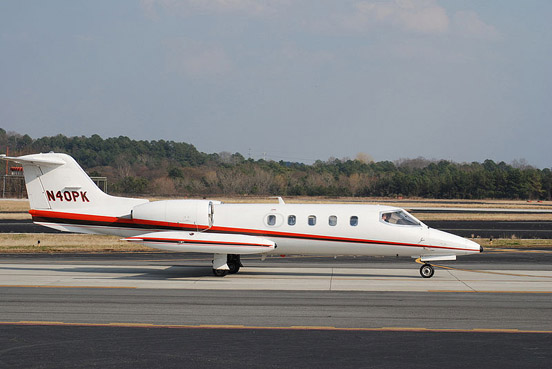 The Learjet 35A.