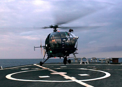 HAL Chetak from Indian Navy's INS Rana.