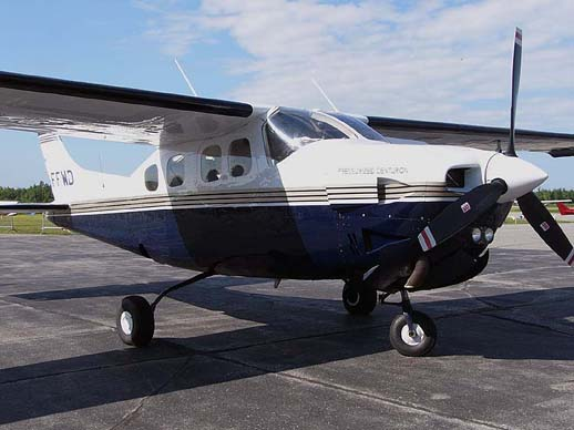 A Cessna P210N Pressurized Centurion with its distinctive small windows