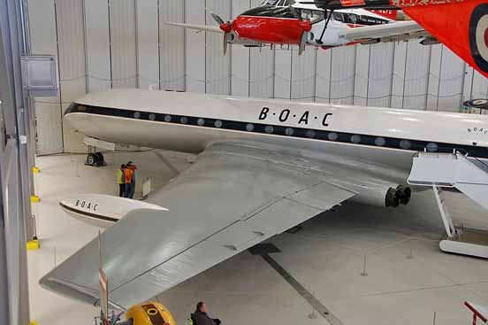 A preserved Comet 4C painted in BOAC livery