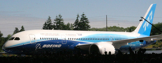The Boeing 787-8, the first model of the aircraft to see production.