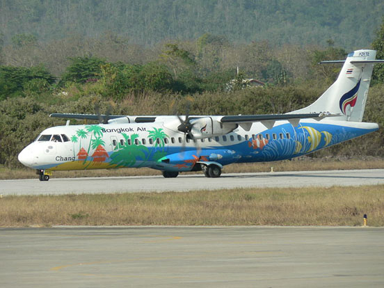 Bangkok Airways ATR 72-500 at Luang Prabang airport, Laos