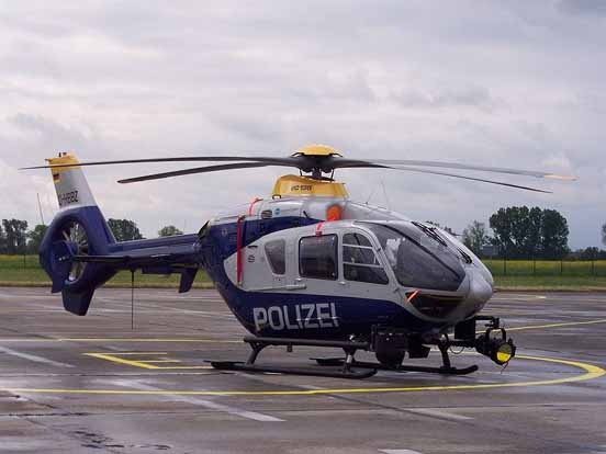 A German Eurocopter EC-135 of the Hessian State Police