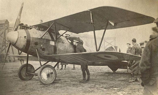 Captured Albatros D.V (serial D.1162/17) with British roundels