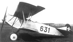 Interned Fokker D.VII in Swiss markings