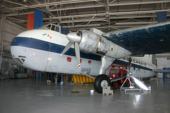 Bristol Freighter 31M in Norcanair markings at the Weestern Canada Aviation Museum in Winnipeg, Manitoba. 2007