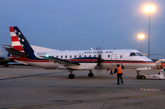 Saab 340B in Colgan Air livery originally delivered to American Eagle