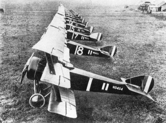 Triplanes of No. 1 Naval Squadron at Bailleul, France