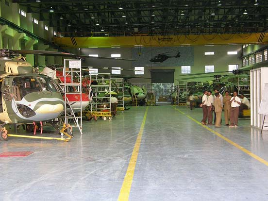 Production line of the HAL Dhruv at HAL, Bangalore