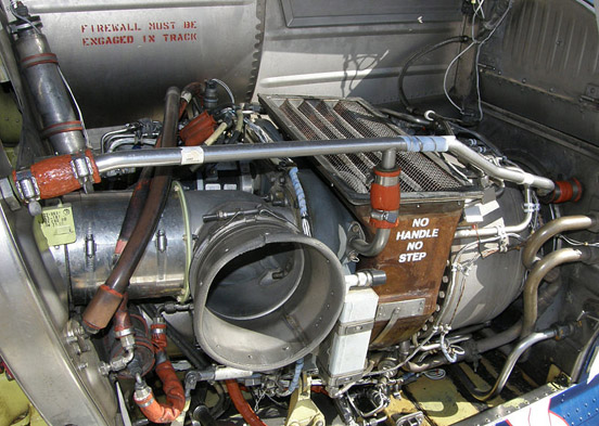 LTS 101-750 engine installation (left engine) in a 222U