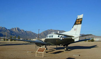 US Army VC-6A, used by Wernher von Braun, displayed at White Sands Missile Range Museum