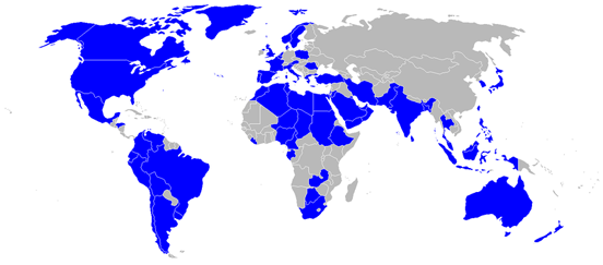 Countries operating the C-130 at December 2006