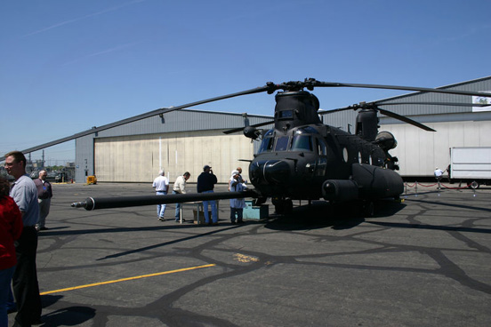 MH-47G Chinook, during the aircraft's rollout ceremony 6 May 2007 at Boeing.