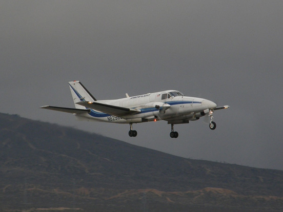 Ameriflight Beech C99 takes off from the Mojave Airport