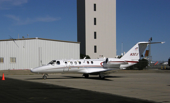 A Citation CJ3 flight test aircraft at the National Test Pilot School, Mojave in 2007