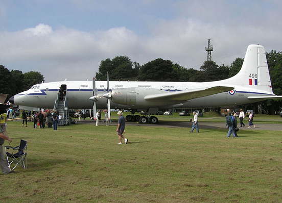 Ex-RAF Bristol Britannia Regulus (seen here in 2007) is being restored by the Bristol Britannia Preservation Society at Kemble Airport, England.