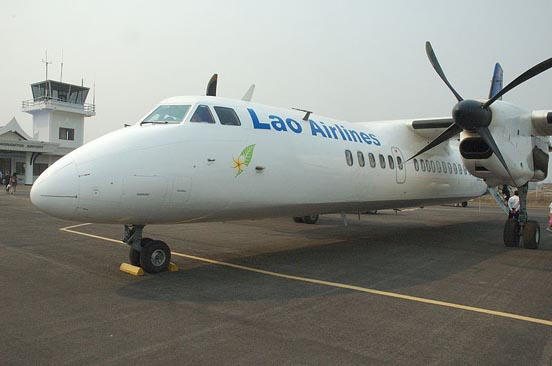 Lao Airlines MA60 at Louangnamtha Airport, Laos