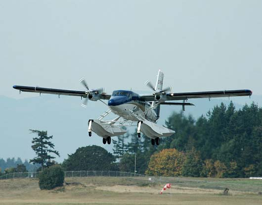 First flight of the Series 400 technical demonstrator by Viking Air, October 1, 2008