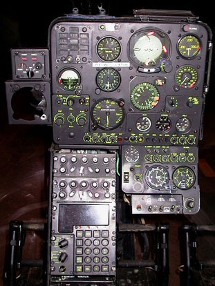 Control panel of a Gazelle SA 342M of the French Army's Light Aviation (ALAT)