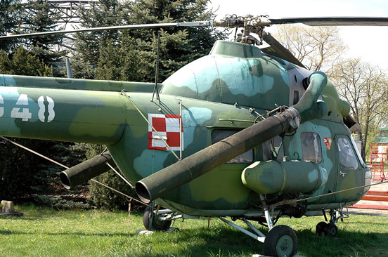 Mi-2Ch exhibited in Polish Aviation Museum