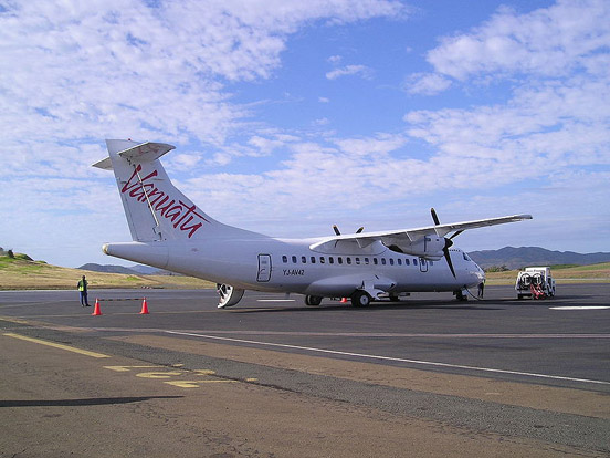 A Vanair ATR-42-320 at Port Vila International Airport