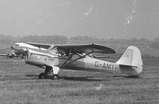 The sole J/8L Aiglet Trainer had an enlarged fin and rudder. Leeds (Yeadon) Airport May 1955