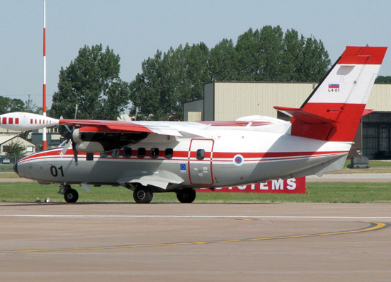 Let L-410UVP-E of the Slovenian Armed Forces