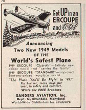By April 1949, advertising was reduced to 1/9th page.
