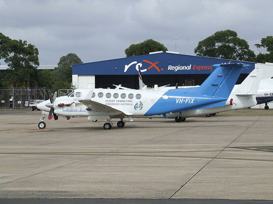 King Air 350 operated by AeroPearl, used for checking navaids in Australia on behalf of Airservices Australia