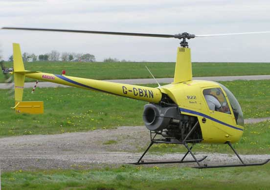 Robinson R22 hovering