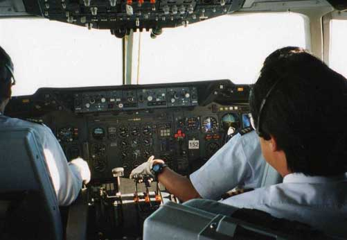 Japan Airlines DC-10 cockpit