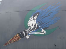 Nose art on AC-130A AF Serial No. 53-3129 at the USAF Armament Museum, Eglin AFB, FL