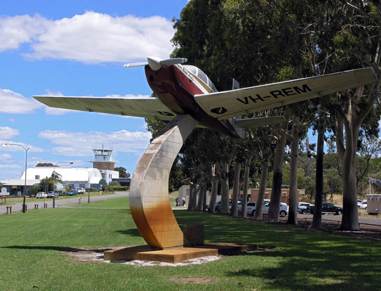Mooney M20 preserved near Jandakot Airport as part of a memorial to Robin Miller