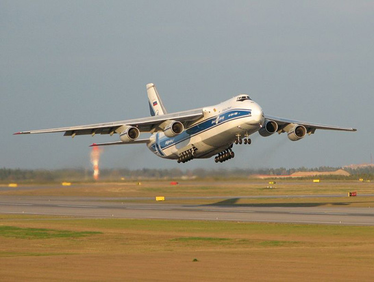 An An-124 taking off from Helsinki-Vantaa Airport