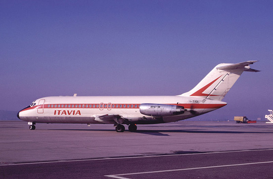 An Itavia DC-9 (I-TIGI) which was lost in an accident at Ustica in 1980.