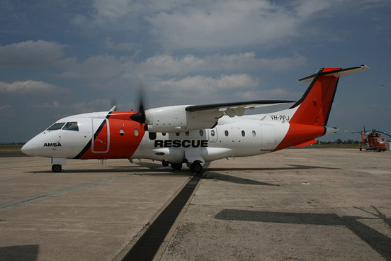 An AeroRescue Dornier 328-100 operated for the Australian Maritime Safety Authority