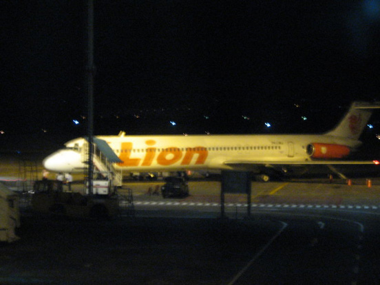 A McDonnell Douglas MD-80 of Lion Air, the largest low-cost airline in Indonesia.