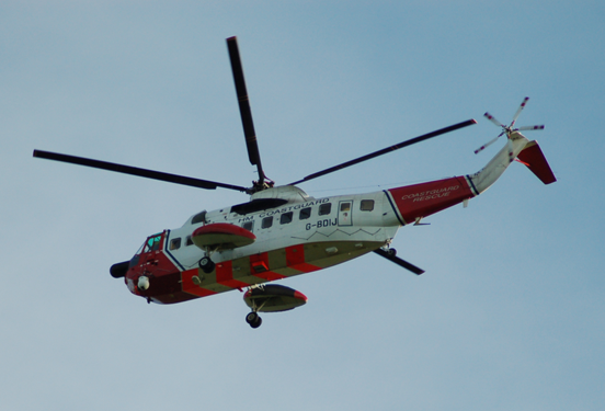 Sikorsky S-61N operating for HM Coastguard