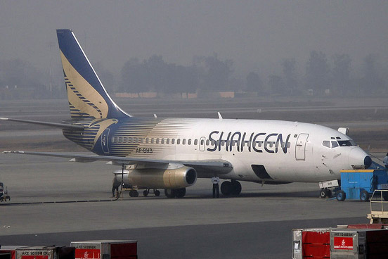 Shaheen Air International Boeing 737-200 at Allama Iqbal International Airport.
