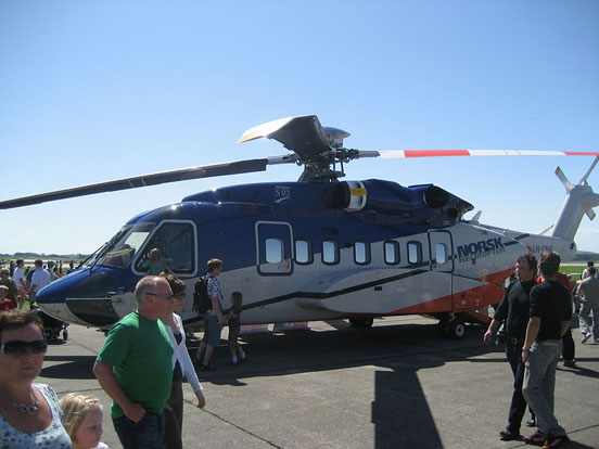 A Sikorsky S-92A from Norsk helikopter at Sola Airshow 2007