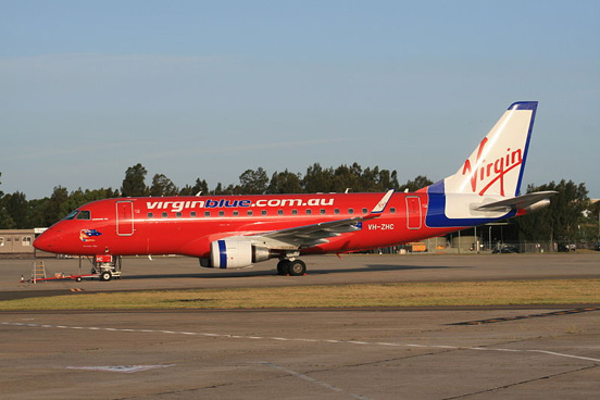 'Irresista-blue', Virgin Blue's third ERJ-170 at Sydney Airport