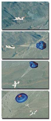 NASA photo series showing the CAPS deployment in action.